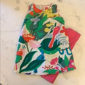 Mini Boden animal tunic with matching capris